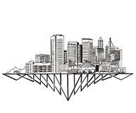 Baltimore, MD-Skyline Lizenzfreie Stockfotografie