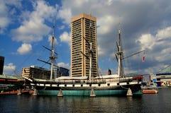 Baltimore, MD: U.S.S. Constellation bei innerem Har Lizenzfreie Stockfotos