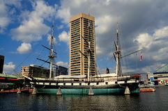 Baltimore, MD: U. S. S. Constellation at Inner Har Royalty Free Stock Photos