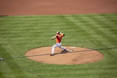 David Hess in pitching debut Royalty Free Stock Photography