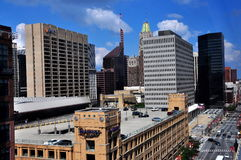 Baltimore, MD: View of Office Towers on Pratt Street Stock Photography