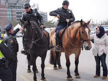 Baltimore Mounted Police. Were on ready to help keep the peace during protest and riots royalty free stock photos