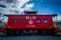 Baltimore and Ohio Railroad Caboose in Mount Airy, Maryland. royalty free stock photography