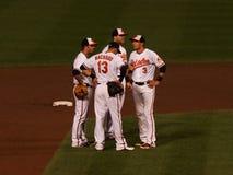 Baltimore Orioles Infieders foto de stock
