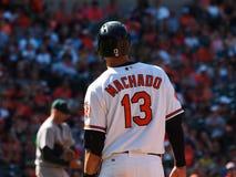 Baltimore Orioles Manny Machado fotografia de stock royalty free