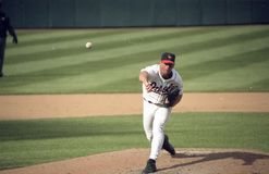 Scott Erickson. Baltimore Orioles pitcher Scott Erickson.  Image from color negative Stock Photography