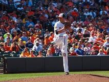 Baltimore Orioles TJ McFarland imagem de stock