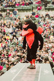 Baltimore Oriolesmascotte royalty-vrije stock afbeeldingen