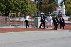Baltimore que comemora Christopher Columbus perto do porto imagens de stock