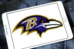 Baltimore Ravens american football team logo. Logo of Baltimore Ravens american football team on samsung tablet. The Baltimore Ravens are a professional American Stock Image