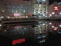Baltimore Reflection at Night royalty free stock photo
