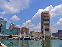 Baltimore's Inner Harbor Royalty Free Stock Photos