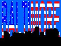 Baltimore skyline Royalty Free Stock Image