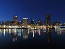 Baltimore Skyline at Dusk Stock Photography