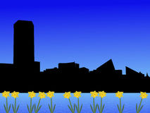 Baltimore skyline in spring Stock Photo