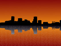 Baltimore at sunset Stock Photo