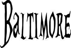 Baltimore text sign illustration Stock Photo