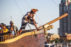 Baltimore Touristic Pirate Boat stock images