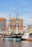 Baltimore, USA - 31. Januar 2014: U S S Konstellation im inneren Hafen am 31. Januar 2014 in Baltimore, USA Stockfotografie