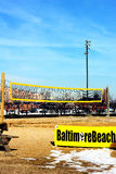 Baltimore, USA - January 31, 2014: Beach volleyball court on January 31, 2014 in Baltimore, USA. Royalty Free Stock Image