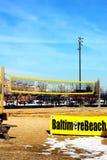 Baltimore, USA - January 31, 2014: Beach volleyball court on January 31, 2014 in Baltimore, USA. The court located at the Rash Field of Inner Harbor Royalty Free Stock Image