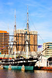 Baltimore, USA - January 31, 2014: U.S.S. Constellation in Inner Harbor on January 31, 2014 in Baltimore, USA. Stock Photos