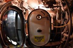 BALTIMORE, USA - JUNE 21 2016 - inside TORSK ii world war submarine view detail close up Royalty Free Stock Photos