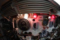 BALTIMORE, USA - JUNE 21 2016 - inside TORSK ii world war submarine view detail close up Stock Photo