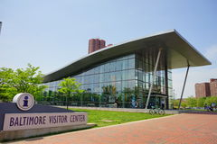 Baltimore visitor center. The visitor center located in Baltimore inner Harbor scenic area and downtown royalty free stock photo