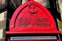 Baltiore, MD: Σημάδι στη μεθοδιστή εκκλησία Ubited Στοκ φωτογραφία με δικαίωμα ελεύθερης χρήσης