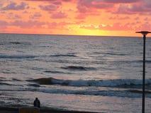 Baltique, mer, coucher du soleil, lever de soleil, aide d'aspiration, DI photos stock