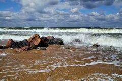Baltique orageuse Photo libre de droits