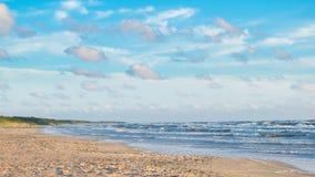 Baltisch strand in palanga Stock Afbeeldingen
