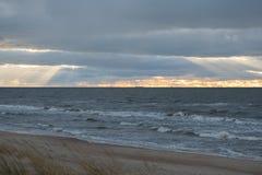 Baltisch strand in palanga Royalty-vrije Stock Fotografie