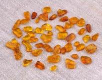 Baltische Amber Stones Stock Afbeelding