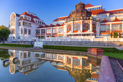 Baltische architectuur van Sopot, Polen stock foto