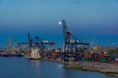 Baltische containerterminal in Gdynia Royalty-vrije Stock Afbeelding