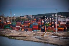 Baltische containerterminal in Gdynia Royalty-vrije Stock Foto