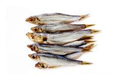 Baltische geräucherte Fische lokalisiert auf Weiß Stockfoto