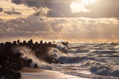 Baltische Wellen Stockfotografie
