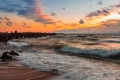 Baltische Wellen Stockfoto