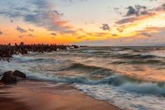 Baltische Wellen Stockfotos
