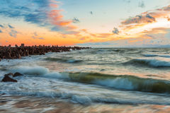 Baltische Wellen Stockbild