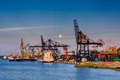 Baltischer Containerbahnhof in Gdynia Stockfotos