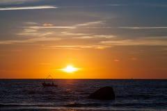 Baltischer Sonnenuntergang Lizenzfreie Stockfotos