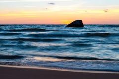 Baltischer Sonnenuntergang Stockfotos