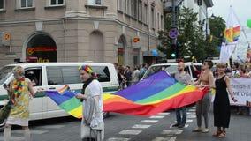 Baltisches Stadtparadehomosexuelles stock video footage