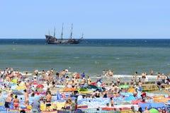 baltisk för poland för dagEuropa niechorze sommar hav Arkivbilder