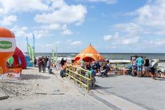 baltisk för poland för dagEuropa niechorze sommar hav Royaltyfria Bilder