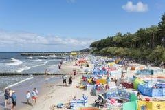 baltisk för poland för dagEuropa niechorze sommar hav Royaltyfria Foton